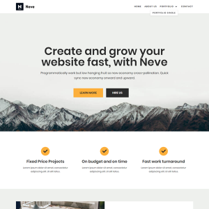 Download Neve Free WordPress Theme