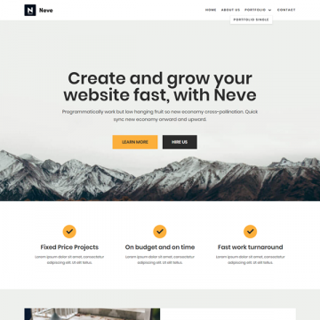 Download Neve Free WordPress Theme