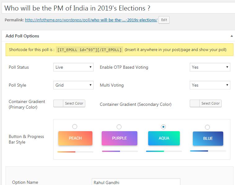 Epoll 3 0 PRO - Best WordPress Election, Voting, Poll & Survey Plugin 2019