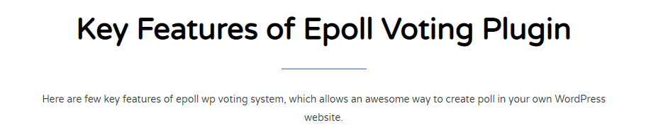 Key Features of WP Voting System