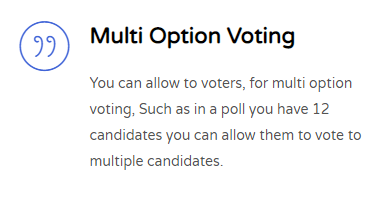 Multi Voting - vote to multiple candidate
