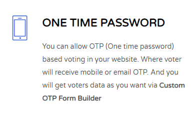 Verify vote by one time password