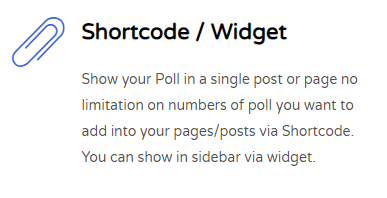 Show poll in post and widget via shortcode