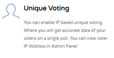 Unique Voting Feature