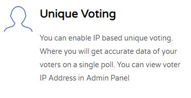 Unique Voting Feature