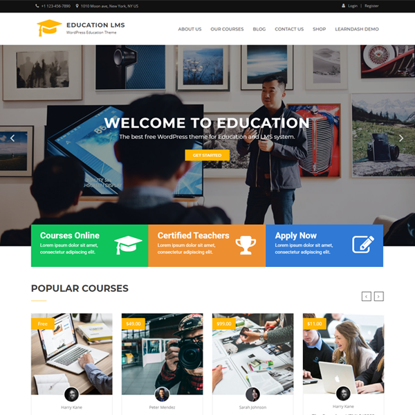 Download Education LMS Free WordPress Theme