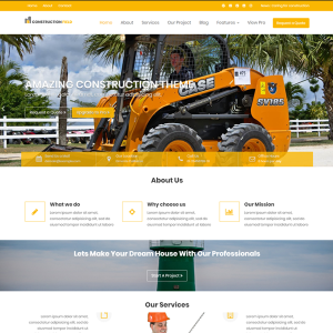 Download Free Construction Field WordPress Theme