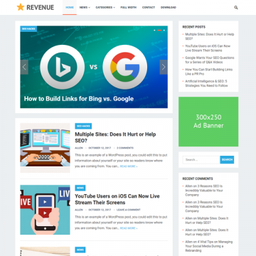 Download Revenue Free WordPress Theme