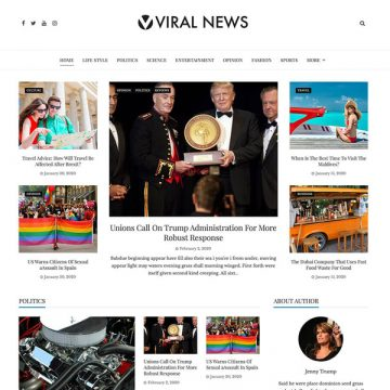 Download Free Viral News Wp Theme